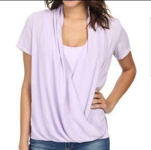 New! NYDJ Purple Chiffon 2 top in1 blouse